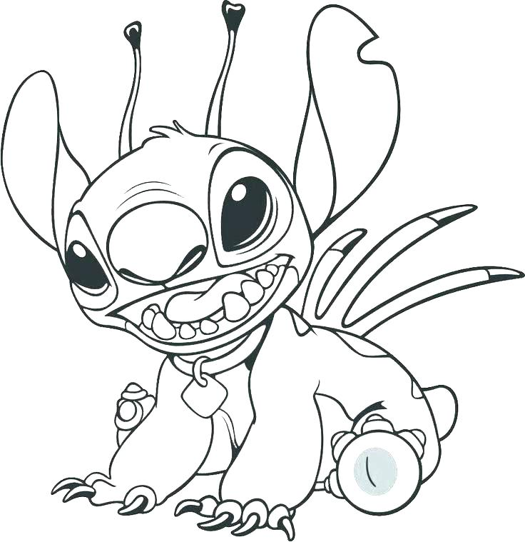 736x759 Stitch And Angel Coloring Pages Lilo And Stitch In The Hammock