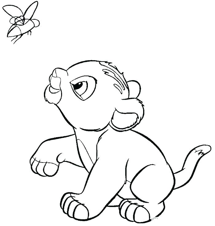700x733 Coloring Pages Lion King Sleeping In A Hammock Coloring Page