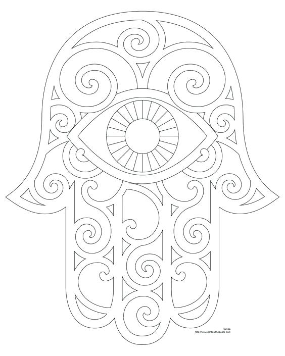 564x705 Hamsa Coloring Pages Splendid Free Mandala Coloring Pages
