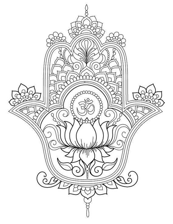 570x738 Hamsa Coloring Pagesclick The Link Now To Find The Center In You