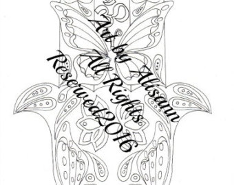 340x270 Om Coloring Page Etsy