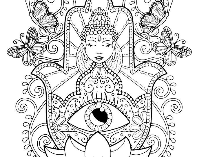 680x540 Pisces Coloring Page For Adults, Pisces Adult Coloring, Mermaid