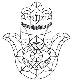 300x338 Best Hamsa Eye Coloring Pages Images On Hamsa
