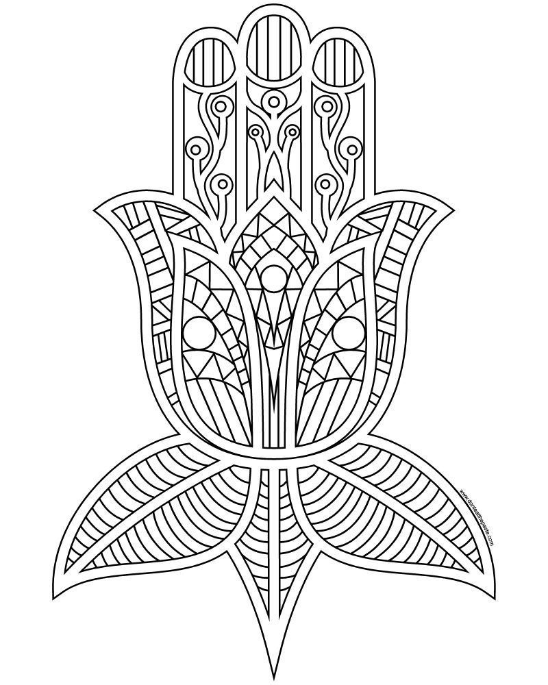 800x1000 Don't Eat The Paste Hamsa Coloring Page