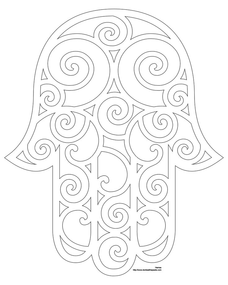 736x920 Fancy Hamsa Coloring Pages Printable Coloring Pages Frieze