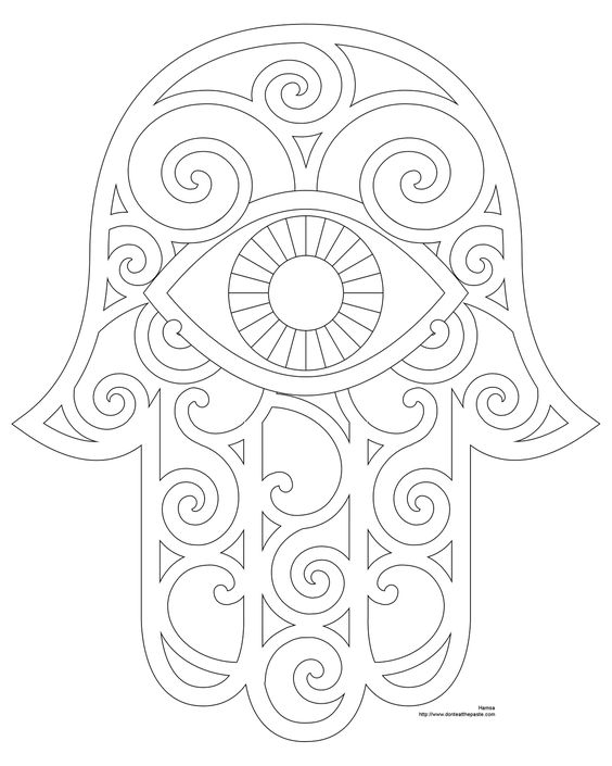 564x705 Hamsa Hand Coloring Pages