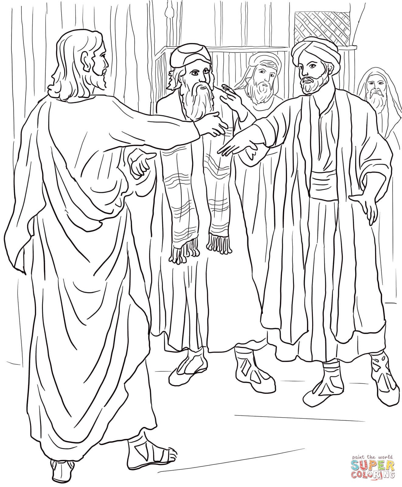 1321x1600 Hand Coloring Page Lovely Jesus Heals A Man With A Withered Hand