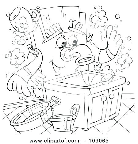 450x470 Printable Hand Washing Coloring Pages Hand Washing Coloring Page