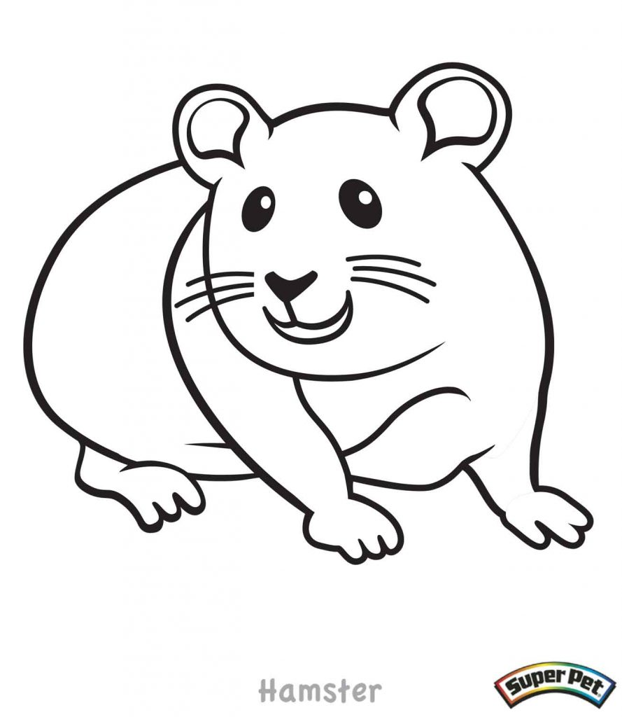 889x1024 Hamster Coloring Pages