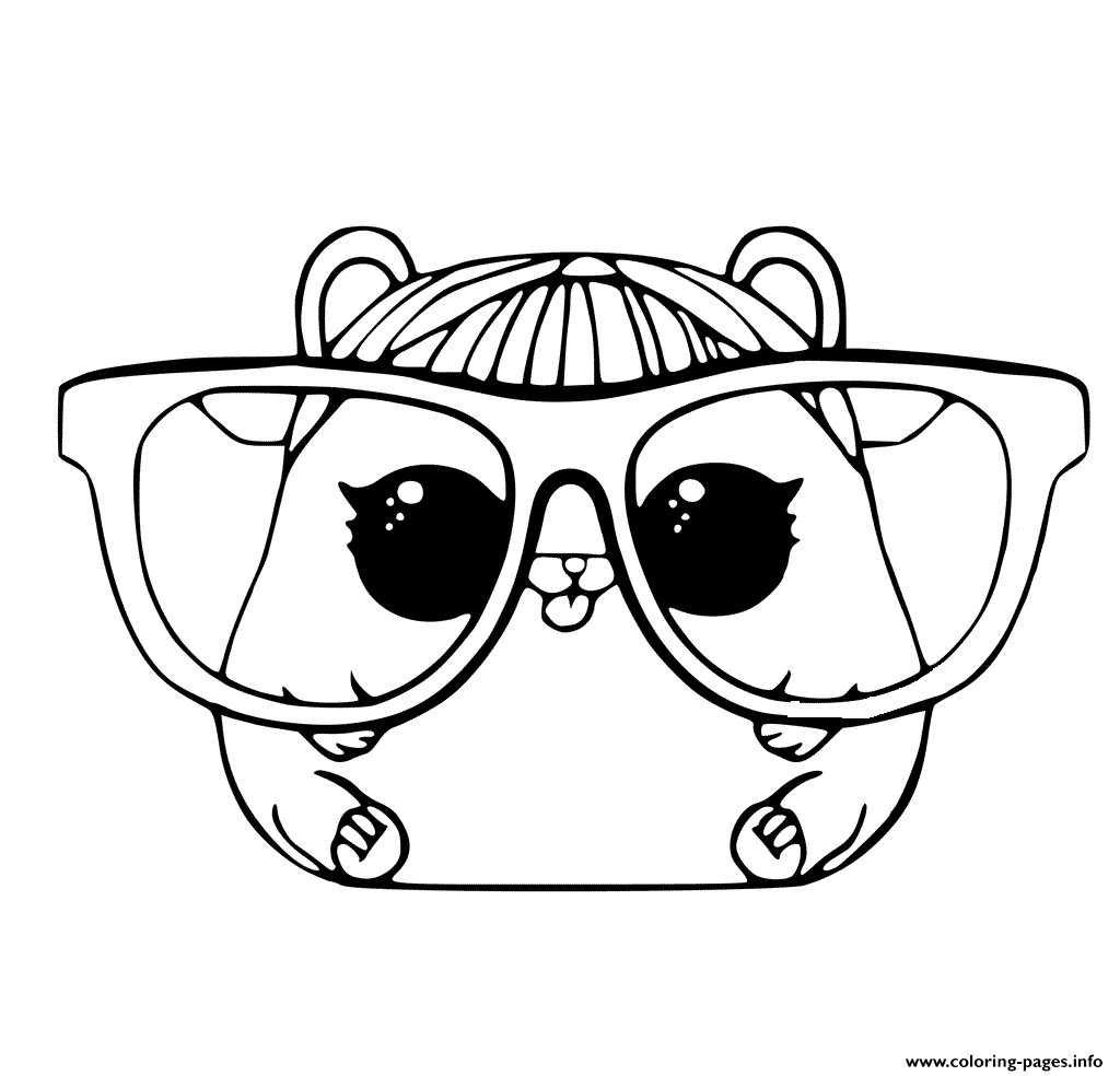1024x984 Lol Pet Coloring Page Cherry Hamster Coloring Pages Printable