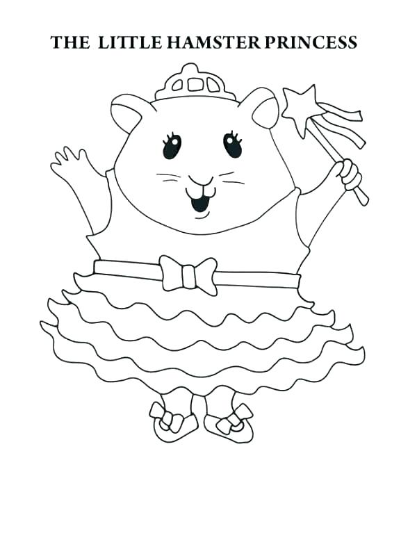 600x777 Cute Hamster Coloring Pages Realistic Hamster Coloring Pages
