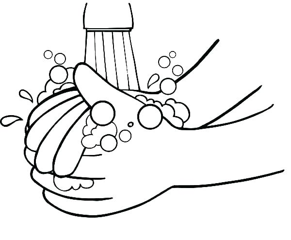 600x494 Hygiene Coloring Pages Hand Coloring Page Sun Coloring Page