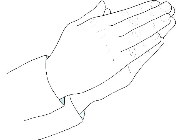 600x480 Praying Hands Coloring Page Praying Hands Coloring Page Best