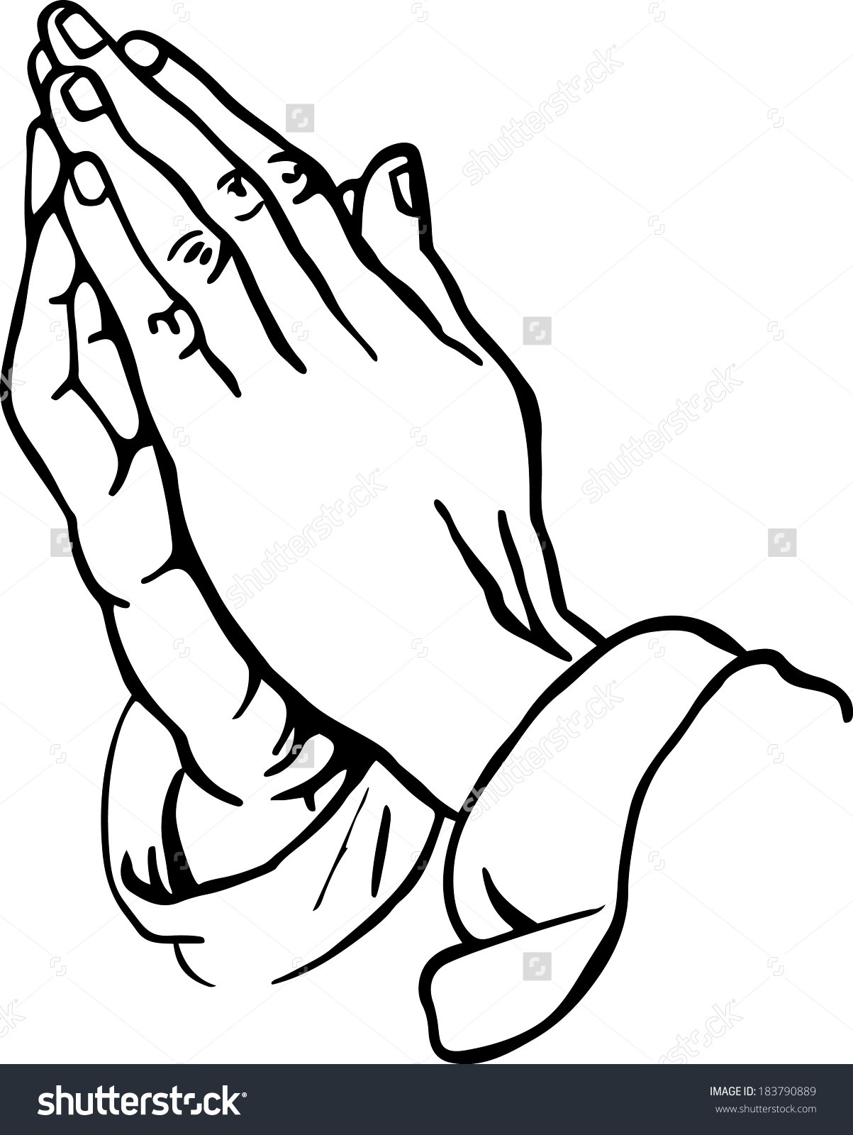 1203x1600 Wanted Praying Hands Coloring Page With Pages