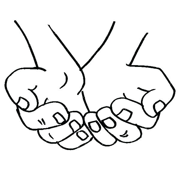 600x569 Praying Hands Coloring Page