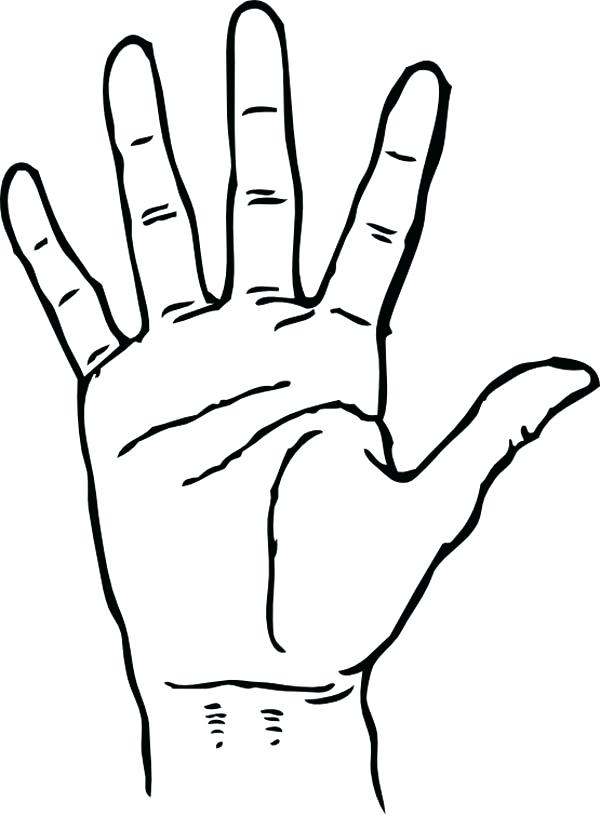 600x815 Coloring Page Hand