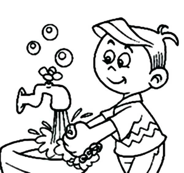 600x563 Germs Coloring Pages Coloring Pages Free Coloring Page Hand