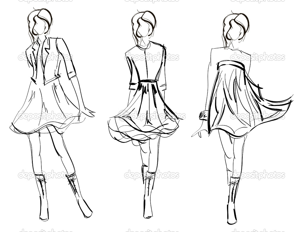 1024x786 Easy Fashion Designer Coloring Pages Amazing Of Depositphotos Hand