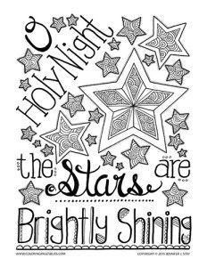 232x300 New Christmas Coloring Pages Holy Night, Hand Drawn And Bullet