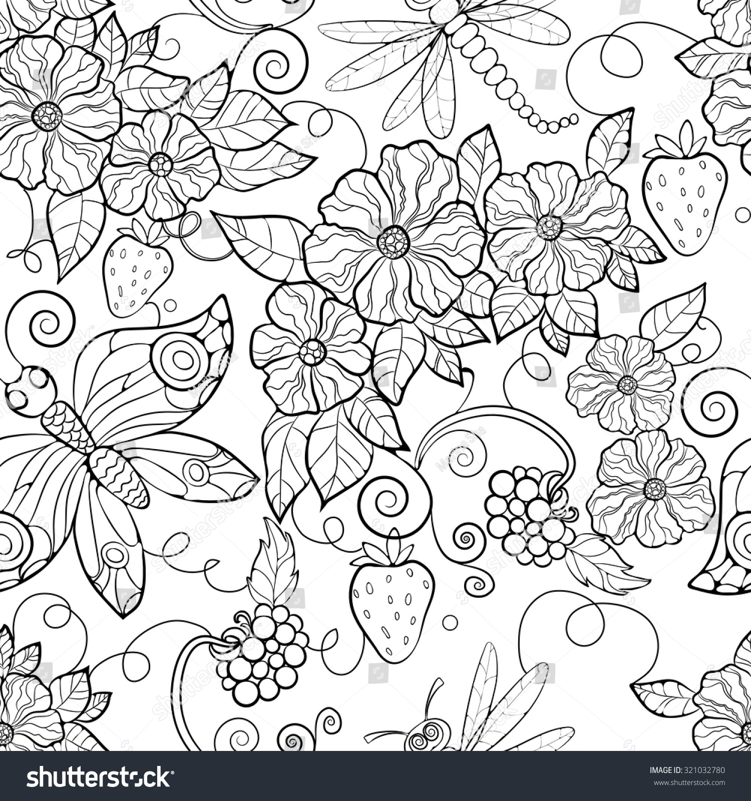1500x1600 Now Printable Butterfly Pattern Large Hand Drawn Coloring Pages