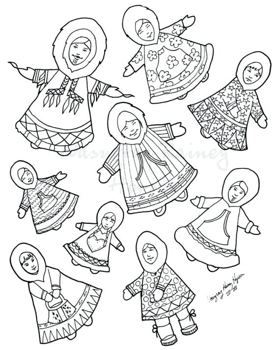570x713 Inuit Coloring Pages