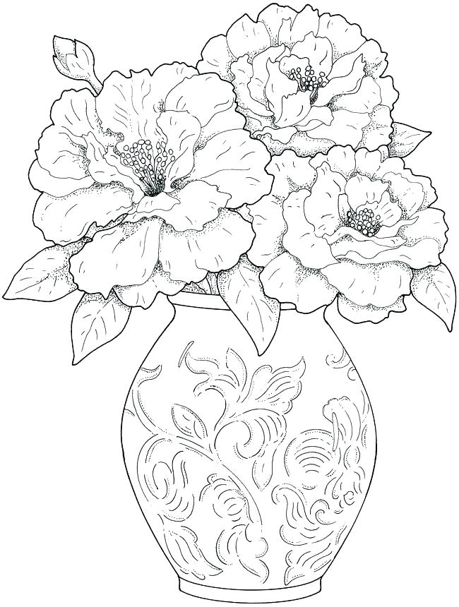 650x860 Coloring Book Pages Flowers Coloring Book Pages Hand Drawn