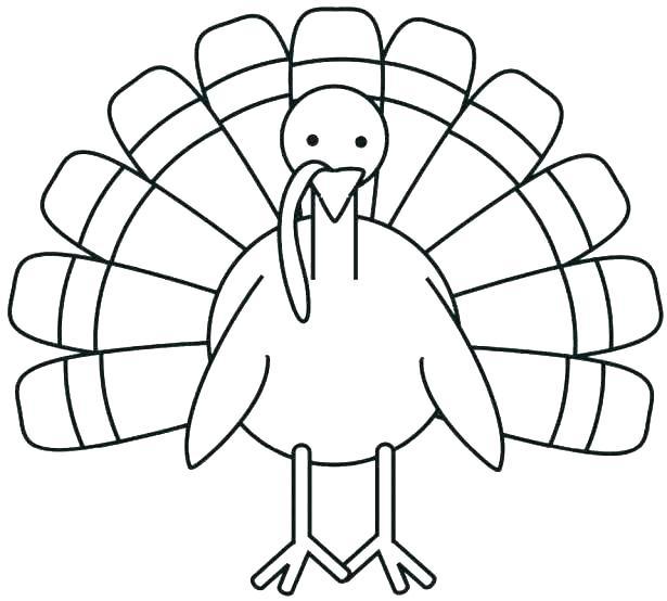 615x554 Printable Turkey Coloring Page Preschool Turkey Coloring Pages