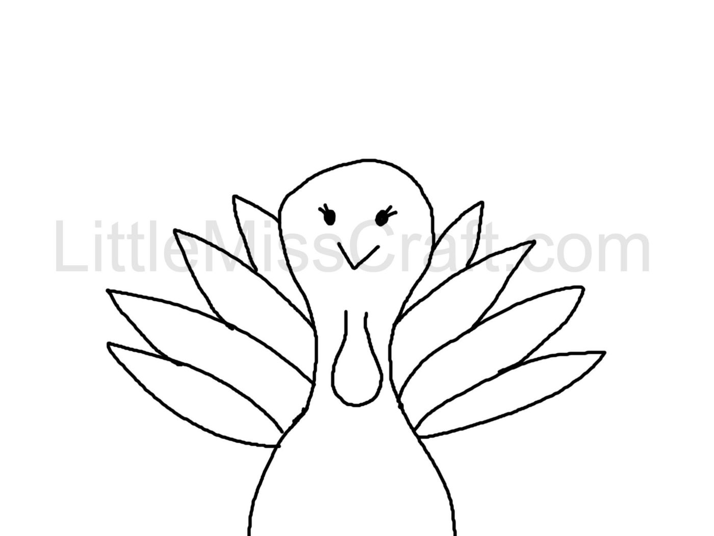 1400x1050 Turkey Draw So Cute Imposing Time Coloring