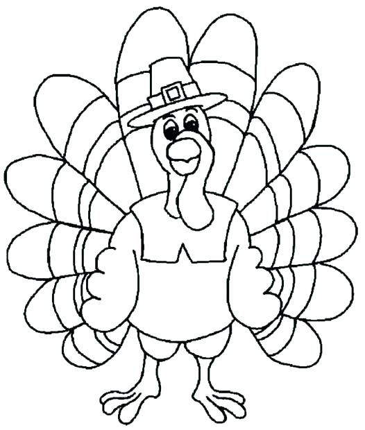526x620 Turkey Coloring Pages Printable