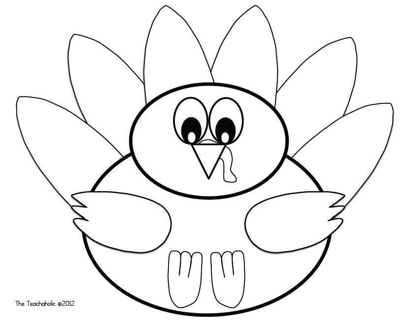 824x658 Turkey Gobble Drawing