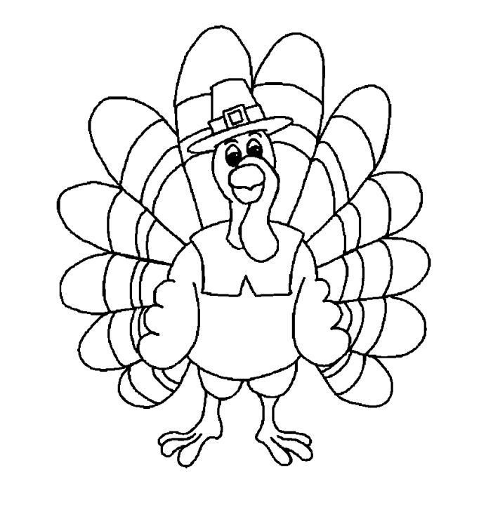 692x733 Turkey To Color Free Printable