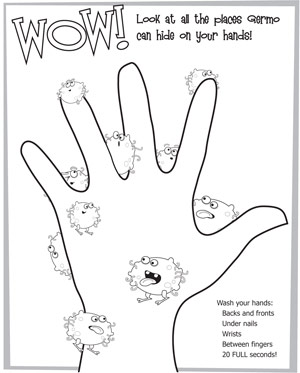 300x373 Hand Washing Coloring Pages For Preschoolers Erf Coloring