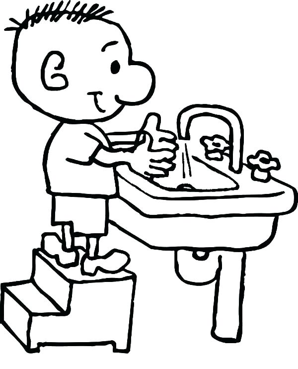 600x742 Hand Washing Coloring Pages Hand Washing Coloring Pages