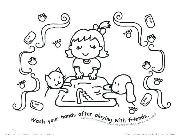618x478 Hand Washing Coloring Sheets Hand Washing Coloring Pages