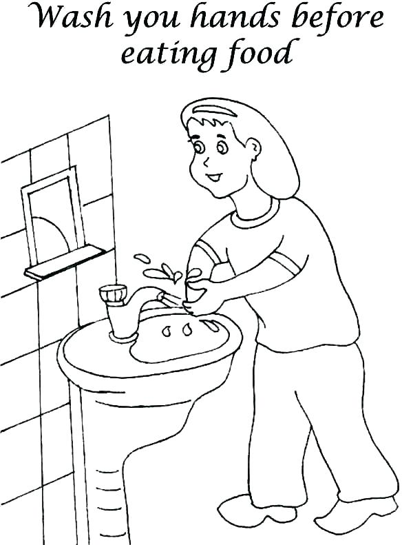 600x791 Handwashing Coloring Pages Coloring Pages Hand Washing Sheets