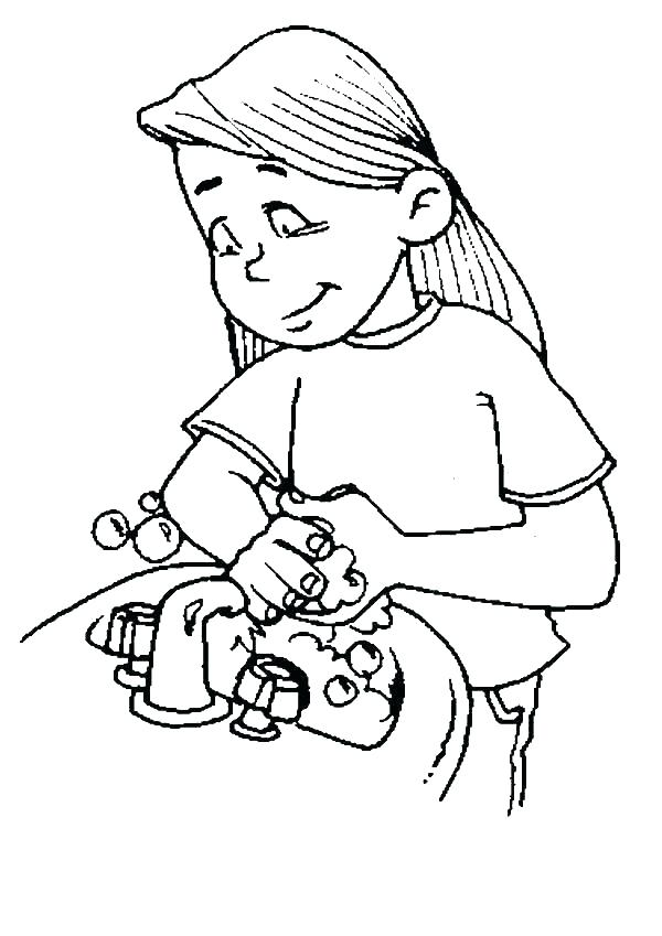 600x849 Washing Hands Coloring Page Coloring Pages Top Rated Hand Washing