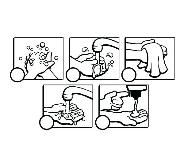 600x464 Washing Hands Coloring Page Washing Hands Colouring Pages