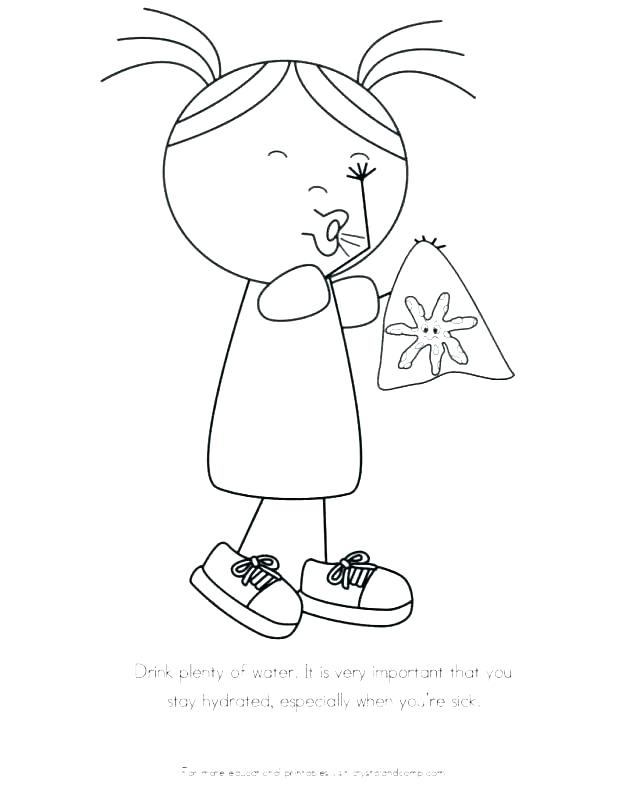 618x799 Hand Washing Coloring Pages Professional