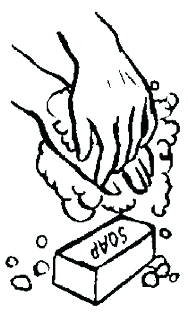600x1000 Hand Washing Coloring Page Coloring Pages Hand Washing Coloring