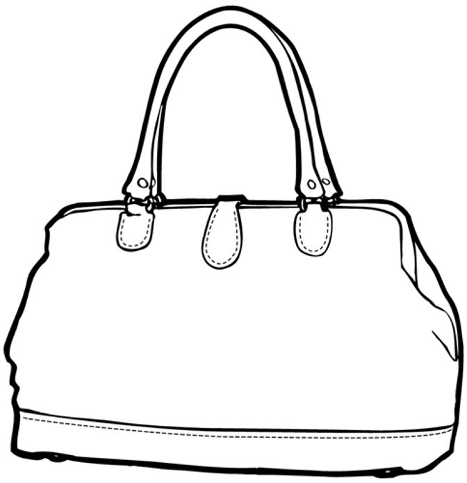 Handbag Coloring Pages
