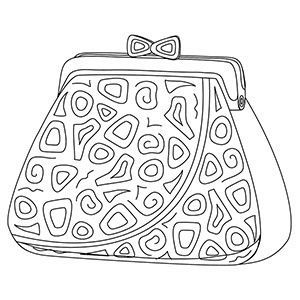 300x300 For Purse Coloring Page