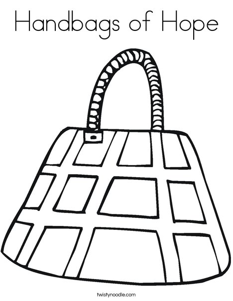 468x605 Handbags Of Hope Coloring Page