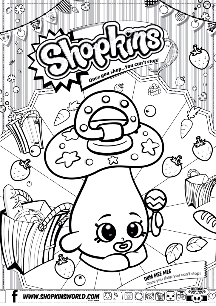 724x1024 Shopkins Coloring Pages