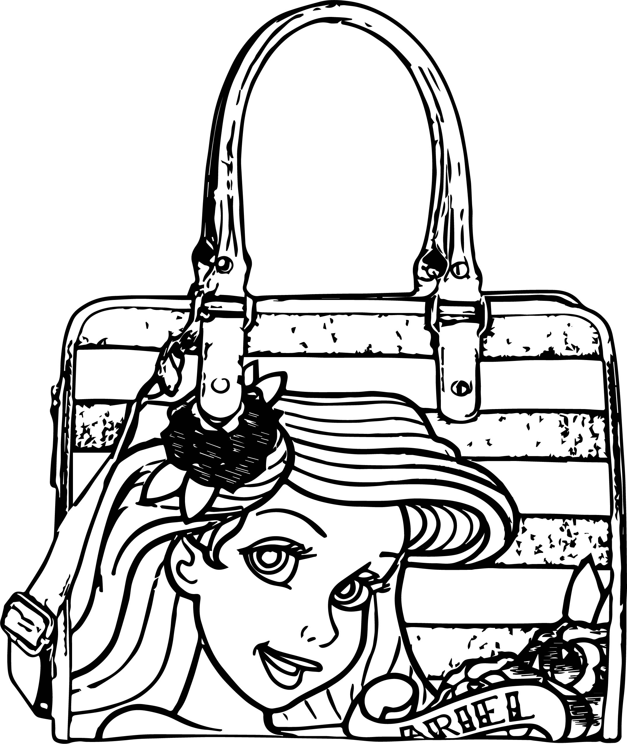 2149x2550 Ariel Mermaid Bag Coloring Page Wecoloringpage