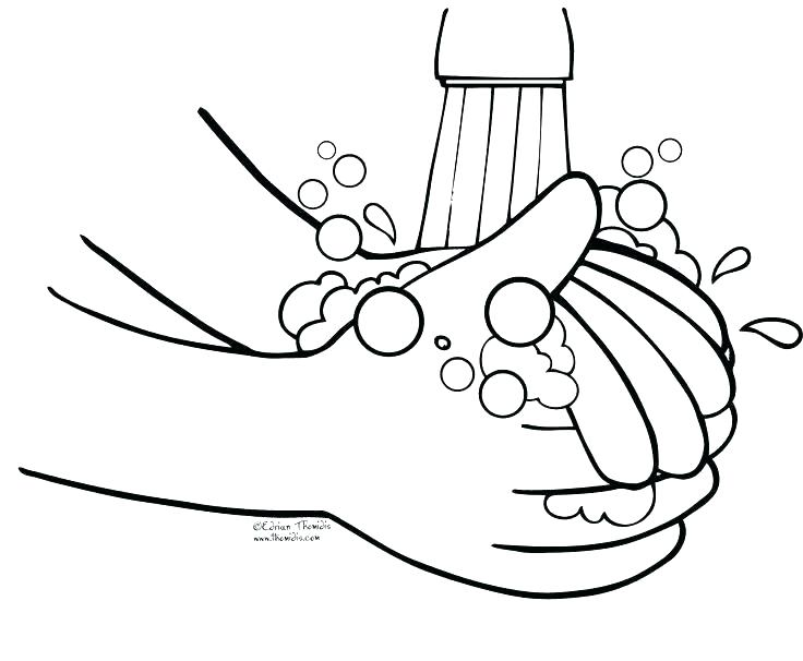 736x606 Coloring Page Hand Hand Washing Coloring Pages Hand Washing