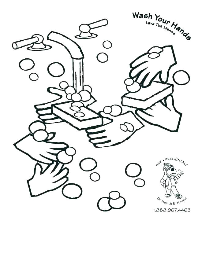 660x854 Hand Washing Coloring Pages Coloring Pages Germs Coloring Pages