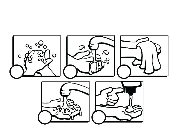 600x464 Hand Washing Coloring Pages Germ Coloring Page Hand Washing