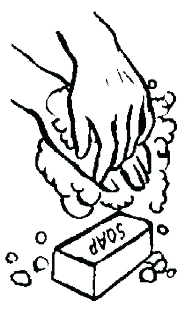 600x1000 Hand Washing Coloring Pages Hand Washing Coloring Page Hand