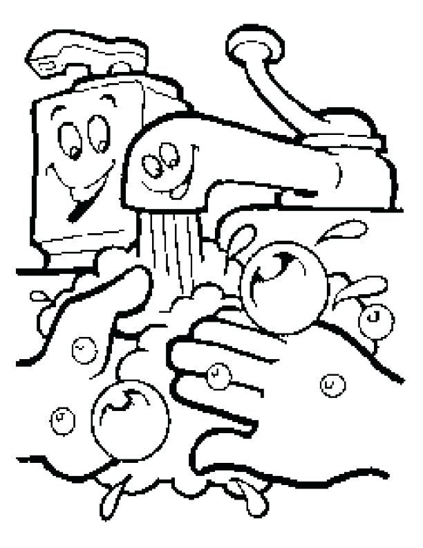 612x792 Handwashing Coloring Pages Germ Coloring Sheets Free Coloring