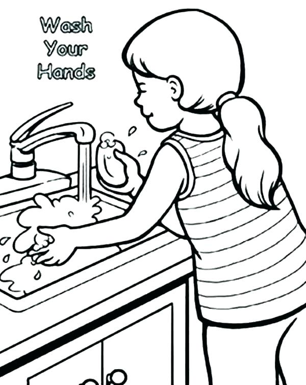 600x754 Praying Hands Coloring Page Hand Washing Coloring Page Praying